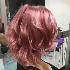 #pinkhair #rosegoldhair