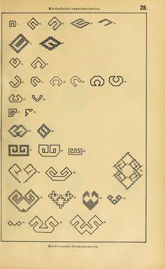 Mordvalaisten pukuja kuoseja. Trachten und Muster der Mordvinen Costumes and patterns of Mordvinians (159 of 638)