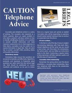 Cautions: Telephone Advice