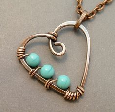 wire heart by shauna Wire Pendant, Wire Wrapped Pendant, Pendant Jewelry, Wire Wrapped Jewelry, Wire Crafts, Jewelry Crafts, Jewelry Art, Jewelry Design, Jewelry Ideas
