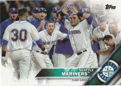 2016 Topps Baseball Series 1 Seattle Mariners Team Card #79 #SeattleMariners