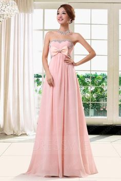 awesome Gorgeous A-Line Floor-Length Strapless Prom Dress