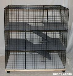 3 Level bunny cage build with grid squares
