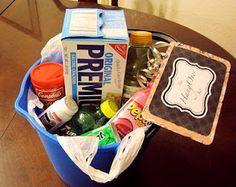 hangover gift basket
