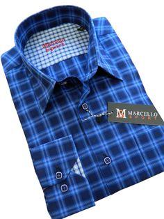Marcello Sport Men's Multi Color Plaid olive