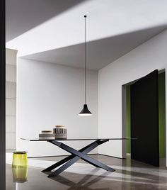 Elegance and minimalism of Cross #table furnish your #interiors with a timeless style #sovetitalia #design #furniture