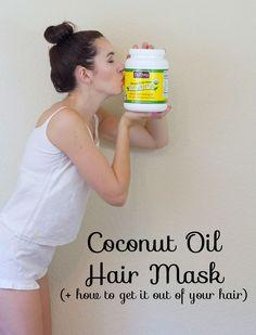 coconut oil hair mask, diy coconut oil hair mask, coconut oil hair mask treatment, benefits of a coconut oil hair mask