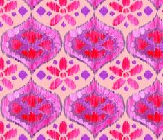 Ikat Medallion - purple and pink fabric by katrinazerilli on Spoonflower - custom fabric