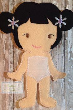 Felt Daisy Doll by NettiesNeedlesToo on Etsy, $7.00