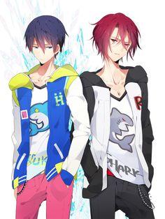 Free! Iwatobi Swim Club. I love Rin and Haru-chan!