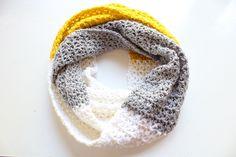 crochet v stitch scarf