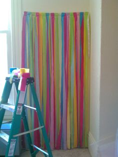 Streamer Backdrop l Photo Booth Backdrop l Photography Backdrop l Carnival Theme l Home Birthday Wedding Party Decor. $45.00, via Etsy.....we can MAKE this!