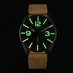 INFANTRY Mens Quartz Wrist Watch Brown Leather Fashion Royale Army Police Style #Infantryco #Sport