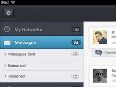 Clean Menu iPad App Design