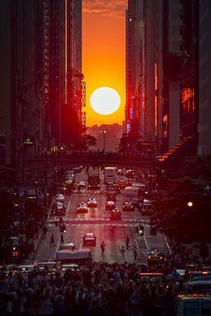 Manhattanhenge by etips #nyc