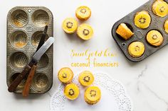 Zespri SunGold kiwi coconut financiers | @ktchnhealssoul
