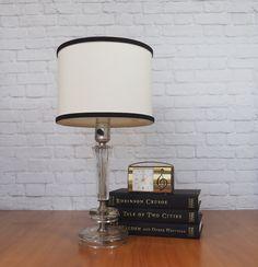 Art Deco Cut Glass Lamp / Elegant Boudoir Lamp by FireflyVintageHome on Etsy