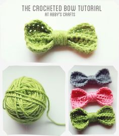 Crocheted Bow tutorial