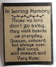 """8x10"""" Rustic Country CHIC Burlap Wedding Sign IN LOVING MEMORY THOSE WE LOVE"""