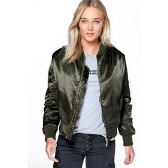 Boohoo Imogen Faux Fur Lined MA1 Bomber ($70) ❤ liked on Polyvore featuring outerwear, jackets, khaki, floral trench coat, floral print bomber jacket, khaki bomber jacket, floral bomber jacket and khaki trench coat