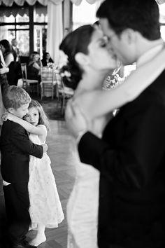 Such a great shot, bride & groom...ring bearer & flower girl