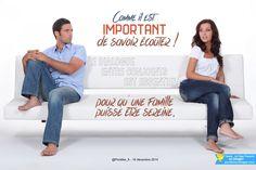 Comme il est important de savoir écouter ! Le dialogue entre conjoints est essentiel pour qu'une famille puisse être sereine.