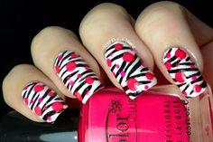 Pop Zebra Nails