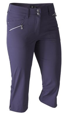 "If you're in the market for some new outfits, consider our women's apparel! Shop this comfortable and stylish Aubergine Daily Sports Ladies Miracle 29"" Outseam Golf Capri from Lori's Golf Shoppe."