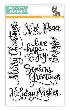 2015  Simon Says Clear Stamps BIG SCRIPTY GREETINGS HOLIDAY sss101548 STAMPtember sss101548 $14.99