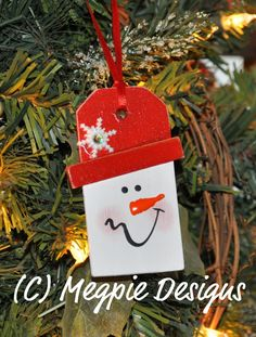 Snowman ornament for children to make?
