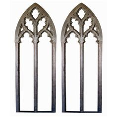 A Grand-Scaled Pair of American Gray Painted Neogothic Window Frames (3.146.340 HUF) ❤ liked on Polyvore featuring home, home decor, windows, furniture, frames, backgrounds, fillers, borders, picture frame and gray home decor