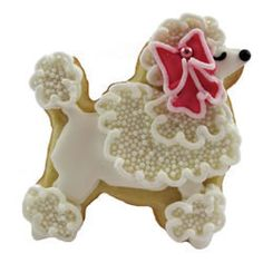 Poodle Cookie Cutter - French Poodle Tin Cookie Cutter by H.O. Foose Tinsmithing.  Made of the finest quality tin. 3""