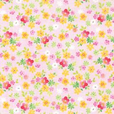 Moda Fleurologie Watercolor Flowers on Blush Fabric #7193-17 - only $8.99/yard in my store!  http://lisasstitchingpost.com/product_info.php?products_id=1409 #Fleurologie #StephanieRyan #ModaFabrics #WatercolorFlowers #FloralFabric #ShowmetheModa