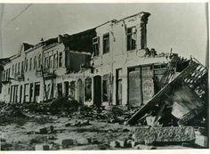 Strada Griviţei după bombardamentul din 4 aprilie 1944.