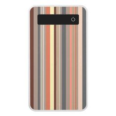 Stripes - Retro Tones Power Bank - retro gifts style cyo diy special idea