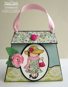 purse shaped card with gift card holder inside, A Paper Melody