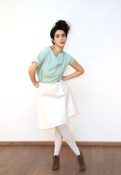 Mint Bluse // mint green blouse by Diba se diva via DaWanda.com