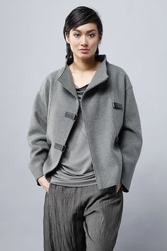 Order our Jacket Honey from our OSKA Autumn/Winter 2014 collection today Grey Fashion, Minimal Fashion, Autumn Fashion, Oska Clothing, Casual Outfits, Fashion Outfits, Slow Fashion, Beautiful Outfits, Spring Outfits