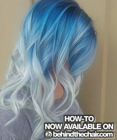 HOW-TO: Icy Blue Melt... Get the HOW-TO, Full Pricing & Formulas...#behindthechair  #pastelhair #pastelblonde #rootshade