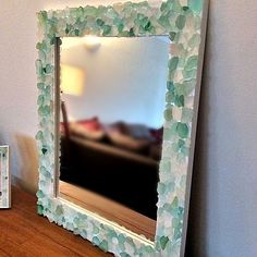 Sea Glass DIY Projects - Frame and Vase