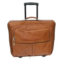 Piel Leather Garment Bag On Wheels Saddle One Size    Want additional info   Click 12927284bc951