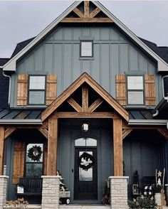 House Paint Exterior, Dream House Exterior, Exterior House Colors, Mountain Home Exterior, Barn House Plans, Dream House Plans, Metal Building Homes, Building A House, Dream Home Design