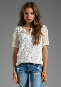 MARC BY MARC JACOBS Collage Lace Short Sleeve Top