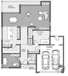 Coller Grundriss Für Ein Doppelhaus Mit Garage Dazwischen Plans