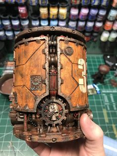 Welcome to the World of Steampunk Imagine a high-tech world where the machines were powered by steam and clockwork mechanisms replaced electronics. Warhammer Terrain, 40k Terrain, Wargaming Terrain, Game Terrain, Warhammer 40k Figures, Warhammer 40k Miniatures, Warhammer 40000, Steampunk Design, Steampunk Fashion