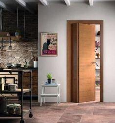 Le porte salvaspazio che sanno arredare Modula è la porta con due ante asimettriche di FerreroLEgno