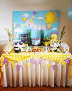 duck theme birthday party decor