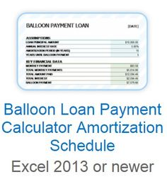 excel amortization schedule with balloon payment