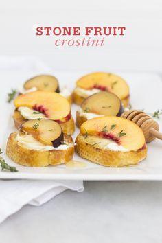 Summer Stone Fruit Crostini