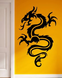 Wall Stickers Vinyl Decal Dragon Chinese Cool Living Room Decor (m208)
